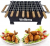 Wellberg Charcoal Babeque Grll with 8 Wooden Skewers,Gloves, 2 Handle for Home and Outdoor Purpose/Picninc/Camping