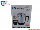 Wellberg Automatic Auto Cut Stainless Steel Electric Kettle with Free 4 Cup (Silver & Black)