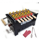 Chefman Premium Quality Charcoal Barbeque Grill with 8 Skewers, 1Grill, 1 Glove & 1 Tong