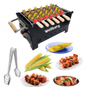 Chefman Portable Picnic Charcoal Barbeque Grill with 6 Skewers, 1Grill, 1 Glove & 1 Tong